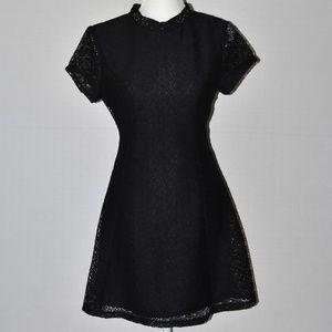 Zara Basic Black Lace Dress Sz M